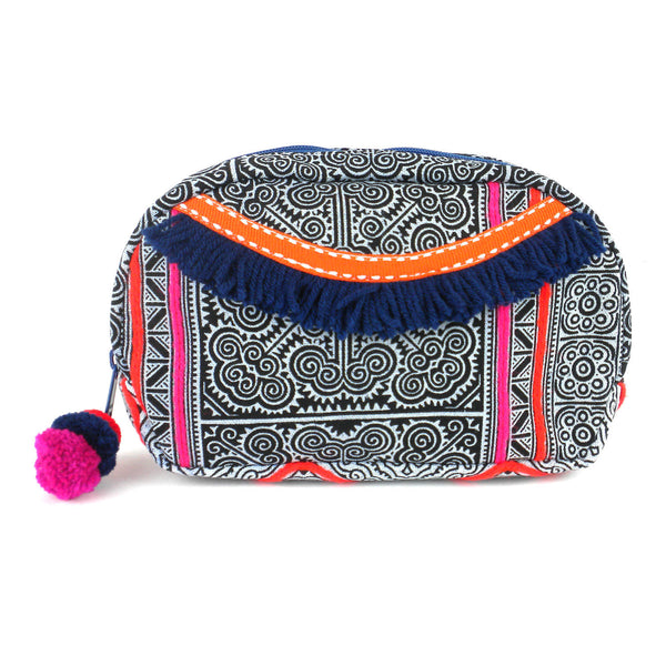Hmong Batik Makeup Bag Indigo - Global Groove (P)