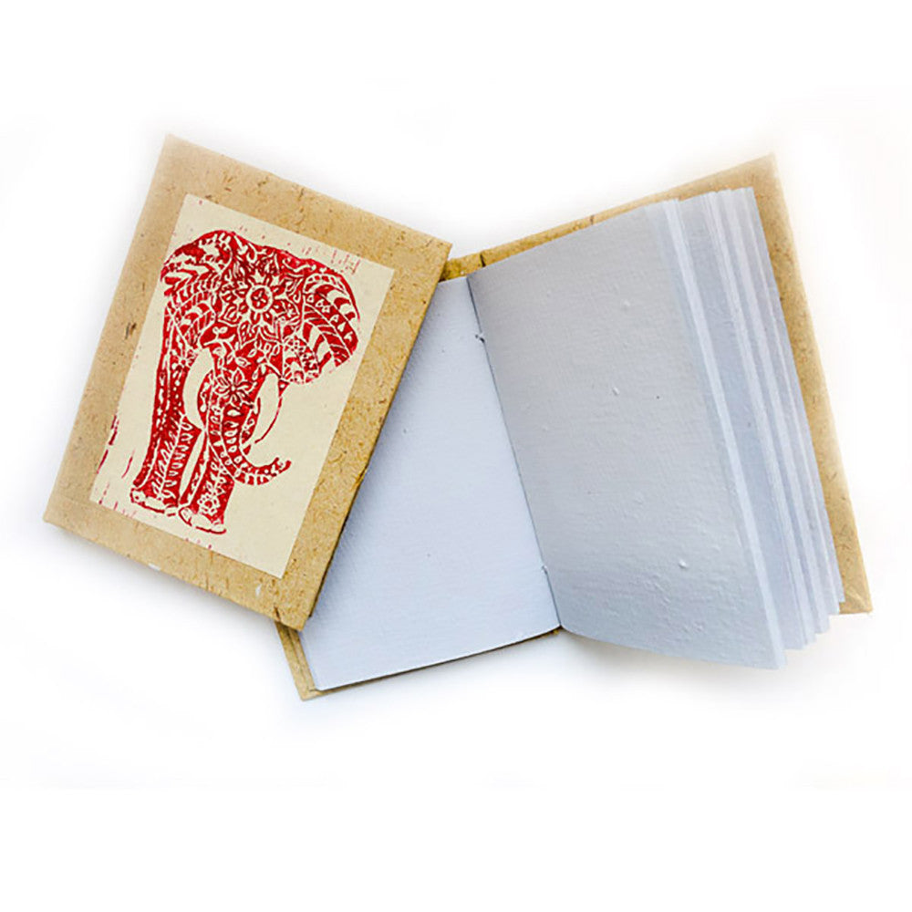 Block Print Journal - Elephant - Imani Workshop (S)