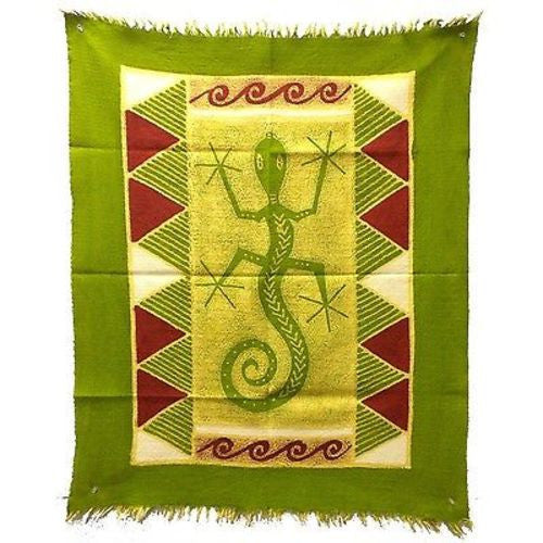 Gecko Batik in Green/Yellow/Red - Tonga Textiles