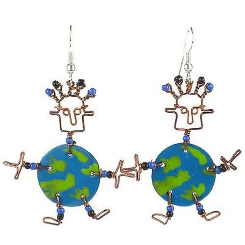 Dancing Girl World Earrings - Creative Alternatives