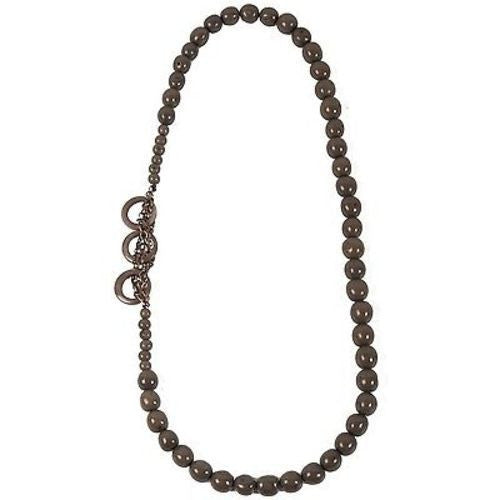 Circle Chain Necklace in Soft Gray - Faire Collection