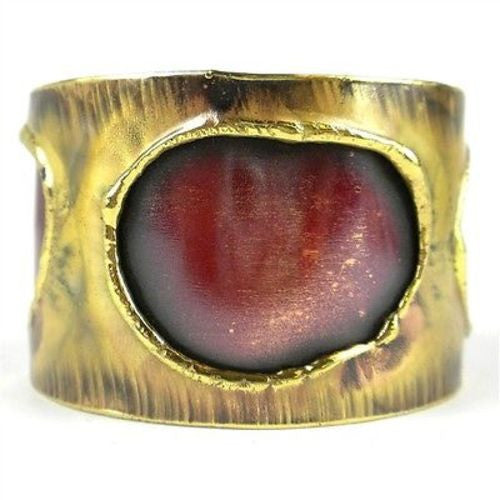 Alter Ego Copper and Brass Cuff - Brass Images (C)