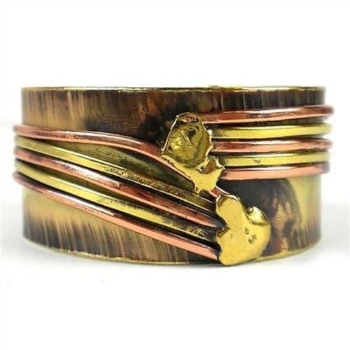 Copper Directions Brass Cuff - Brass Images (C)