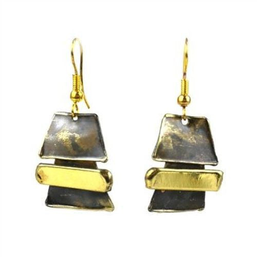 Zen Brass Earrings - Brass Images (E)