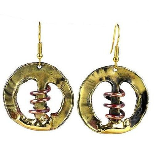 Copper Spring Brass Earrings - Brass Images (E)