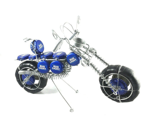 Budlight Bottle Cap Motorcycle- Uniquk
