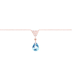 Triangle And Sky Blue Topaz Charm Necklace Main Image
