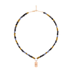 Petrol Beaded Necklace