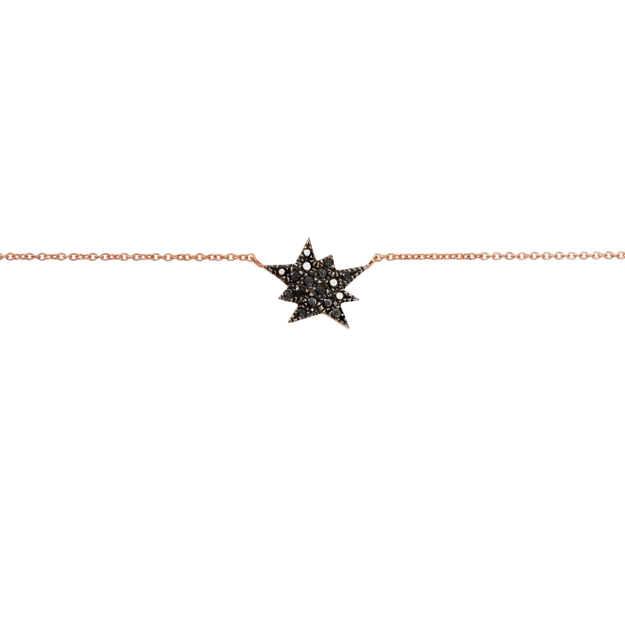 Diane Kordas Explosion Charm Black Diamond Necklace