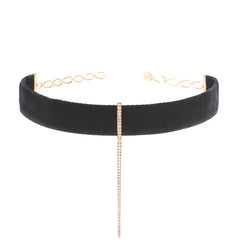 Black Velvet Bar Choker