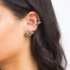 Black Gold Eclipse Ear Cuff