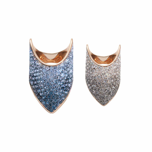 Blue Ombre Armour Rings
