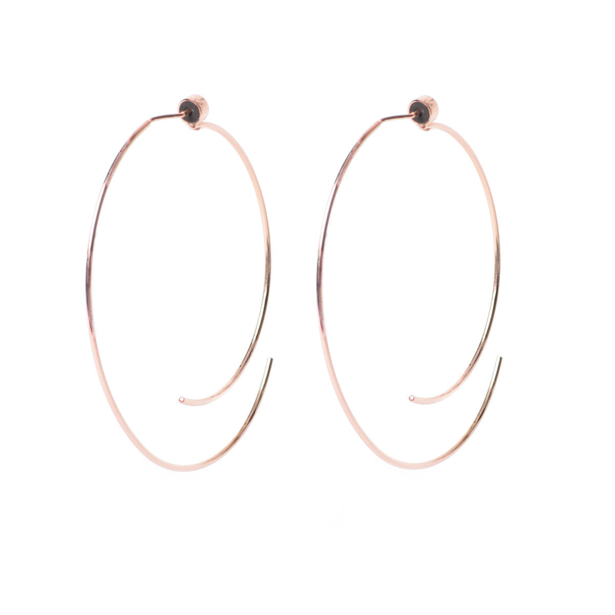 Diane Kordas Jewellery Curved Open Hoops 18kt gold