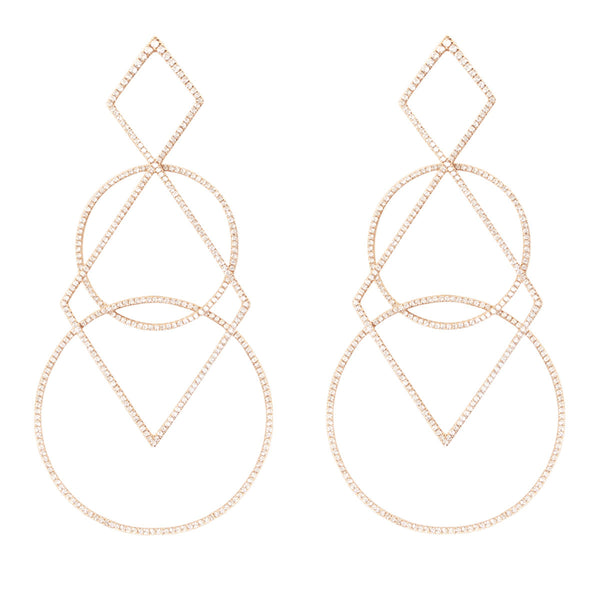 Diamond Geometric Earrings