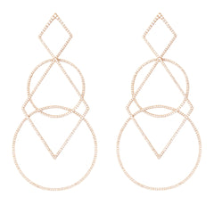 Diane Kordas Jewellery Diamond Geometric Earrings 18kt gold