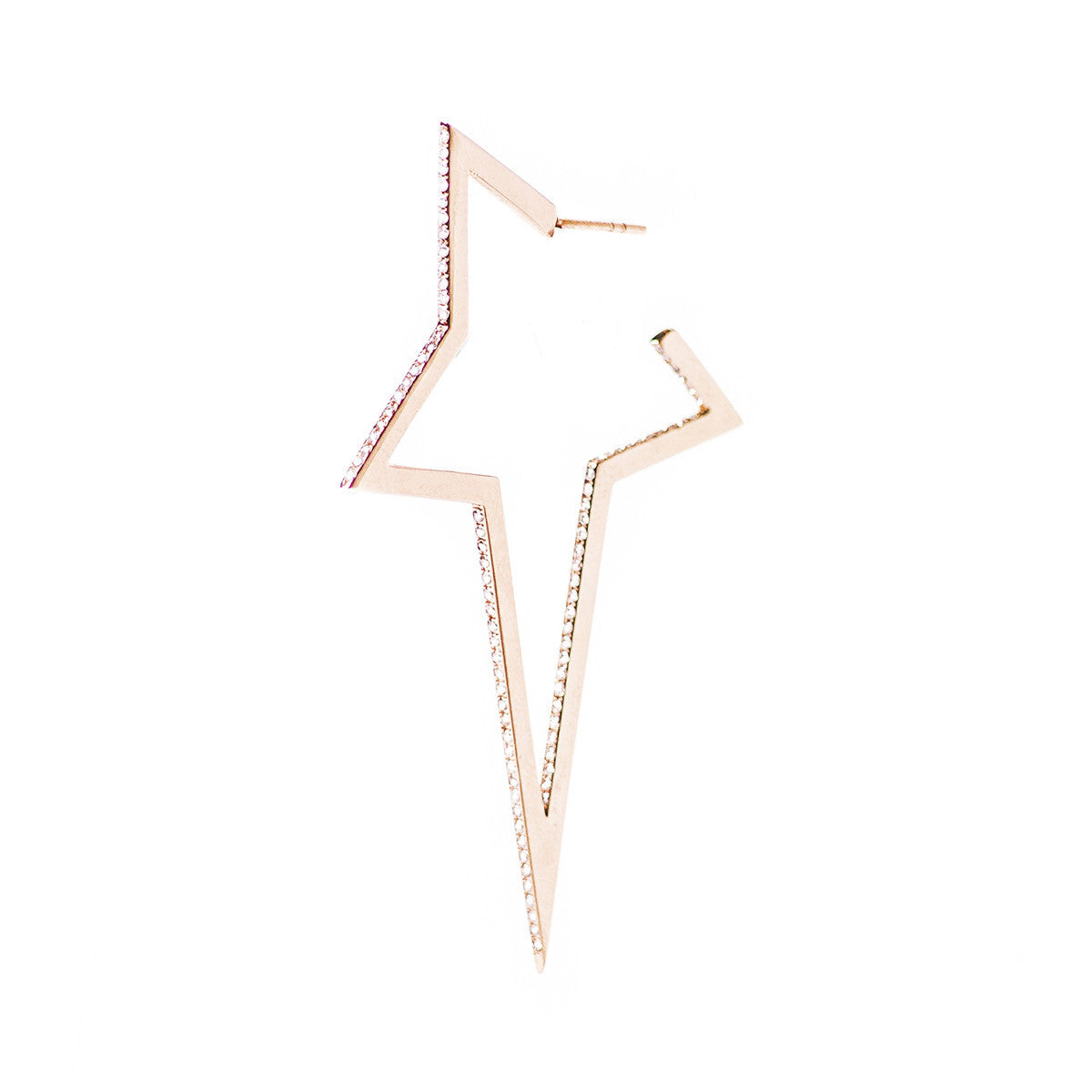 Diane Kordas Jewellery Diamond Large Star Earring 18kt gold
