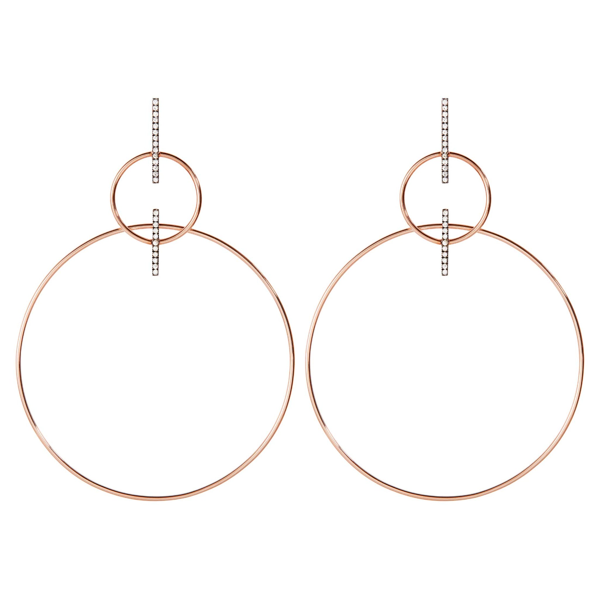 Double Bar Hoop Earrings
