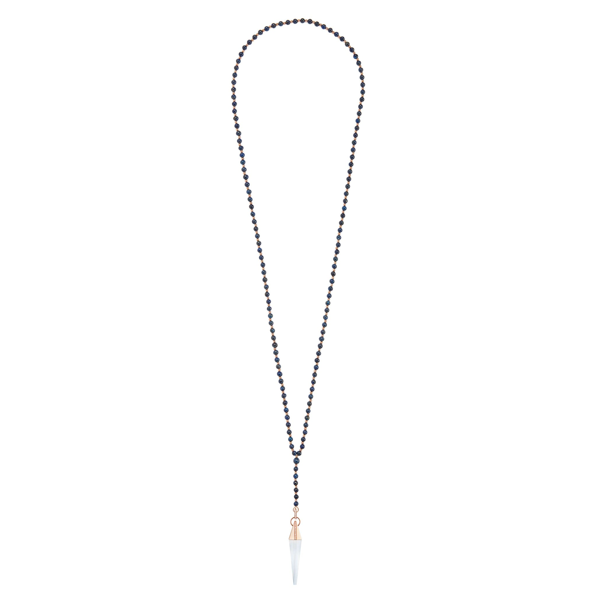 Dumortierite Crystal Spear Necklace