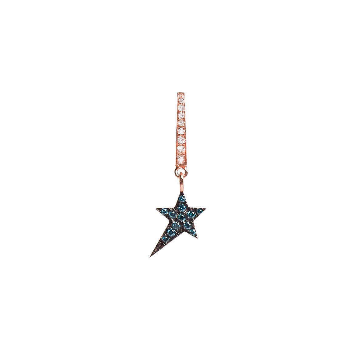Diane Kordas Jewellery Cosmos Blue Star Charm Earring 18kt gold