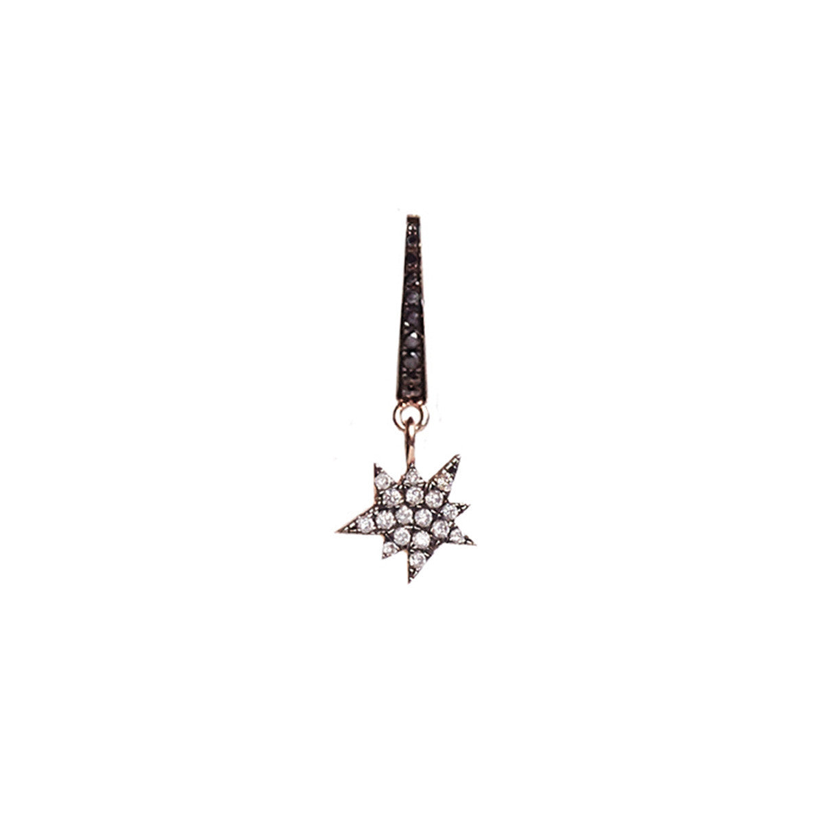 Cosmos Black Diamond Explosion Charm Earring