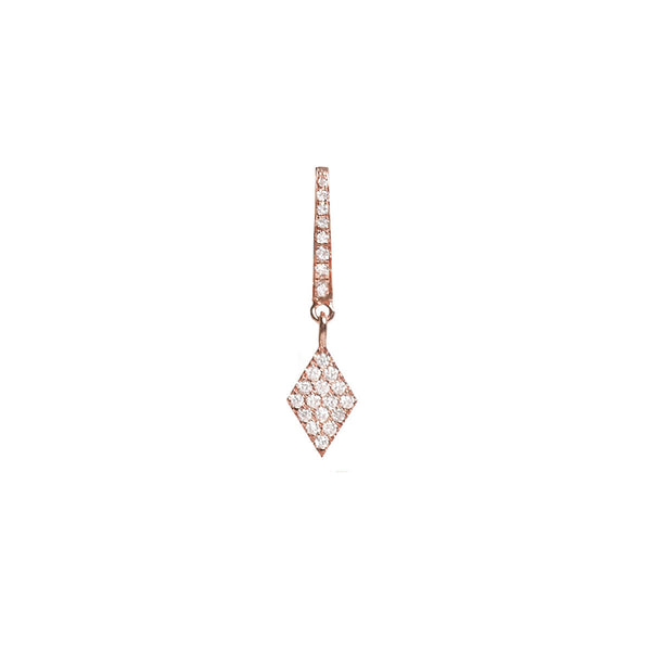 Cosmos White Diamond Charm Earring
