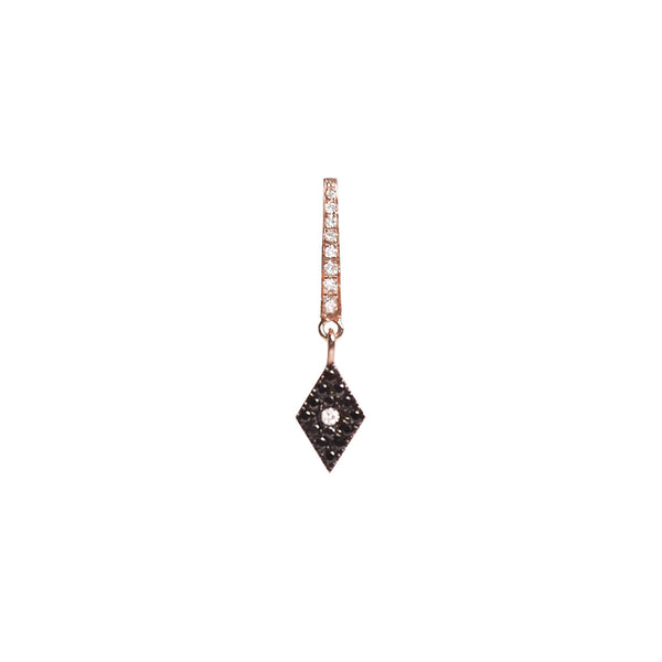 Cosmos Black Diamond Charm Earring