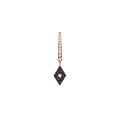 Diane Kordas Jewellery Cosmos Black Diamond Charm Earring 18kt gold