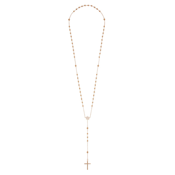 All Gold Cross Rosary