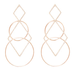 Diane Kordas Jewellery Half Diamond Geometric Earrings 18kt gold