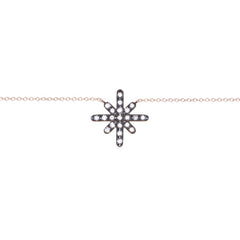 Diane Kordas Jewellery Starburst Necklace 18kt gold