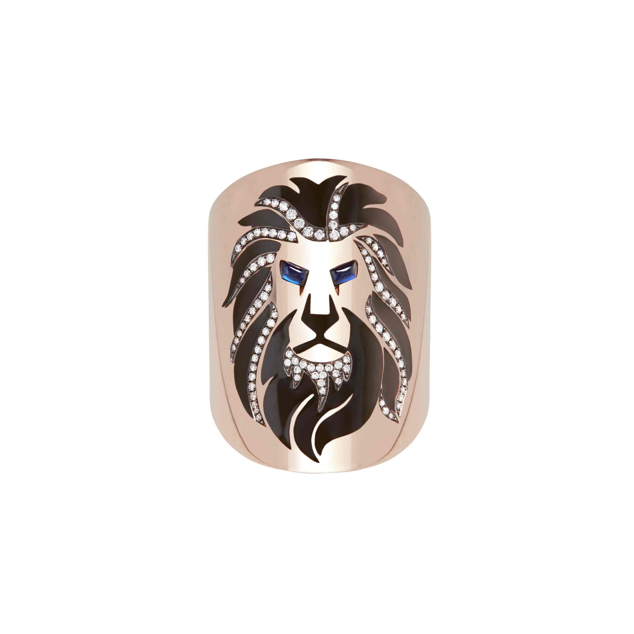 Diane Kordas 18k Diamond Lion Ring