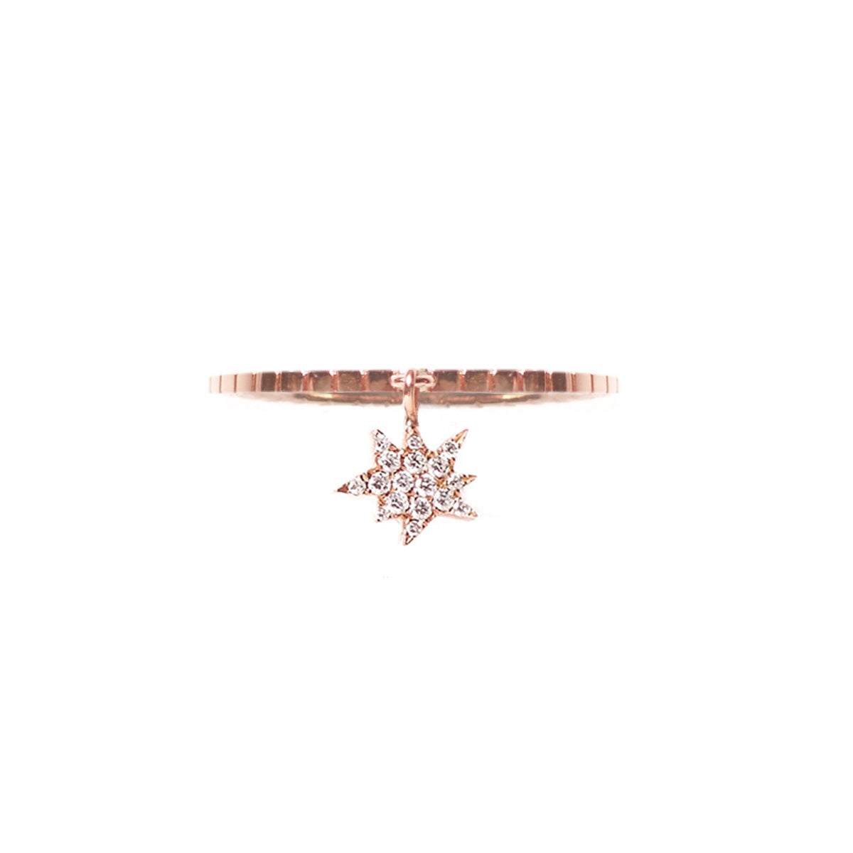 Cosmos White Diamond Explosion Charm Ring