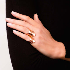 Diane Kordas Rose Gold Armour Rings