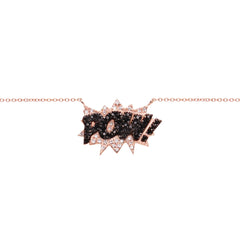 Diane Kordas Jewellery POW! Necklace 18kt gold front