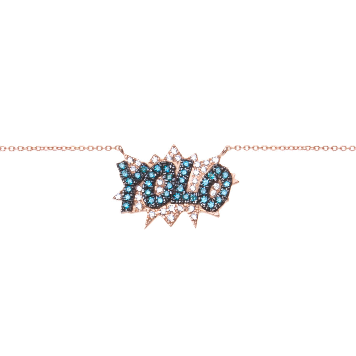 Diane Kordas Jewellery YOLO Necklace 18kt gold front