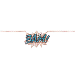 Diane Kordas Jewellery BAM! Necklace 18kt gold front