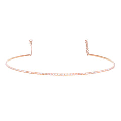 Rose Gold Full Set Diamond Bar Choker
