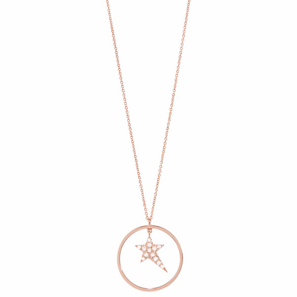 Star Necklace with Gold Circle