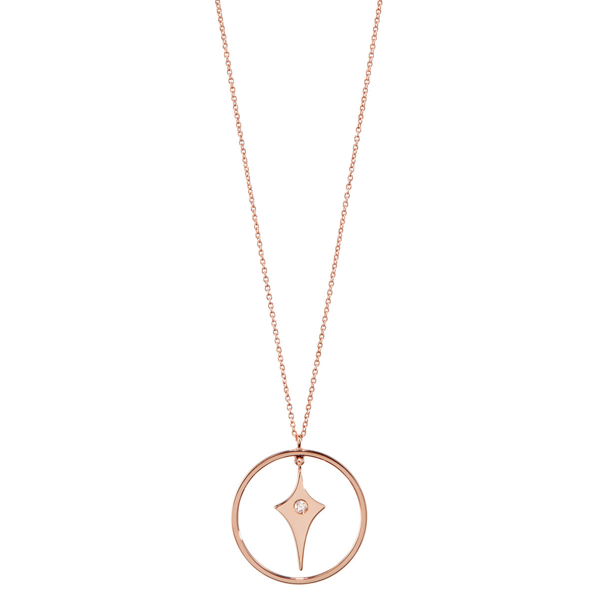 Diane Kordas Shield Necklace with Gold Circle