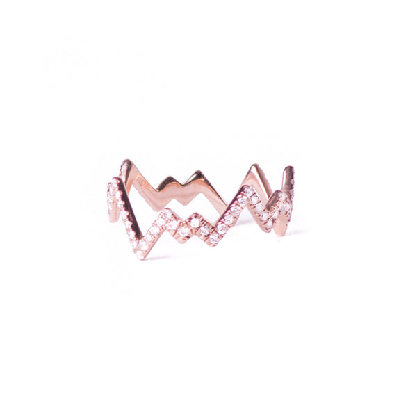 Rose Gold Pop Art Band Ring