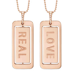 DIANE KORDAS REAL/LOVE 18K GOLD PENDANT
