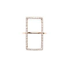 Rectangle Diamond Shape Ring