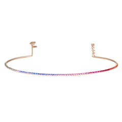 Rose Gold Rainbow Bar Choker