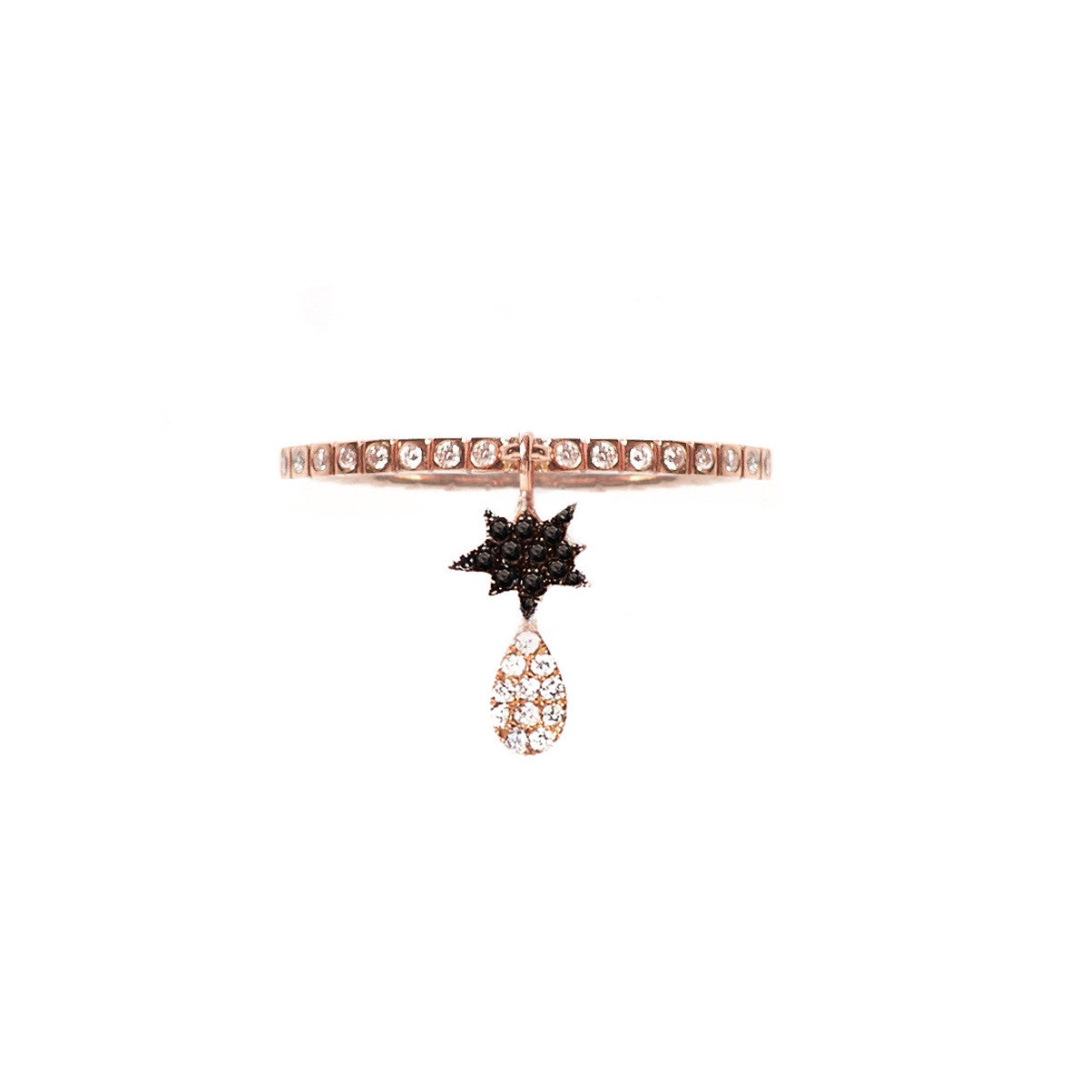 Cosmos Black Double Charm Ring