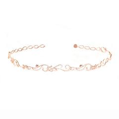 Diane Kordas Jewellery Vine Choker with Diamonds 18kt rose gold