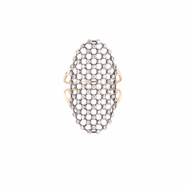 Oval Mesh Ring