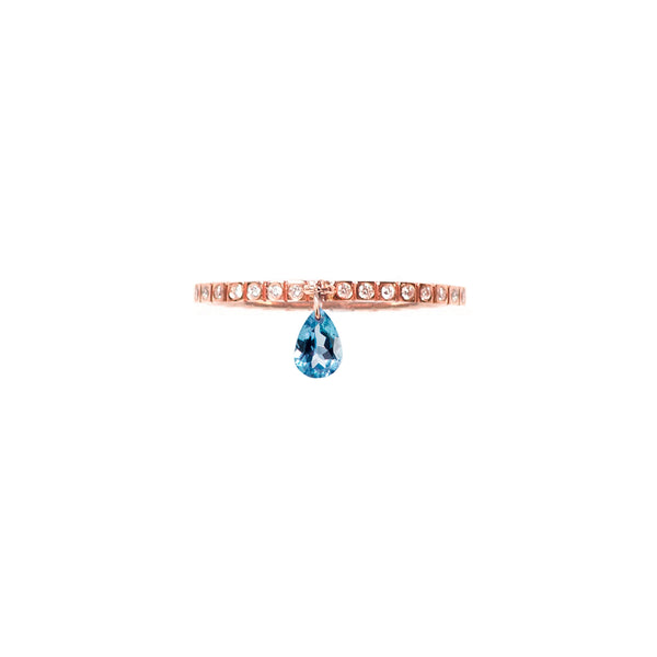 LONDON BLUE TOPAZ BAND RING