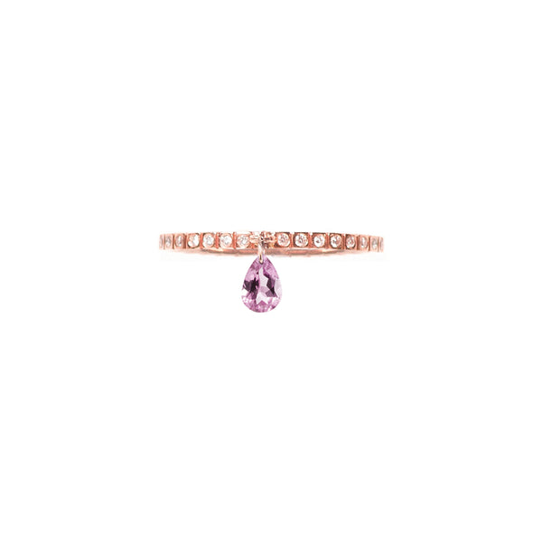 PINK TOURMALINE BAND RING