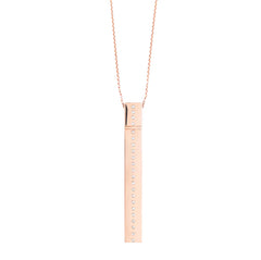 Rose Gold Square Diamond Line Amulette