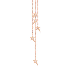Diane Kordas Asymmetric Star Chain Earrings